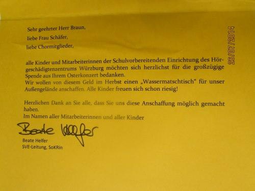 Brief Würzburg